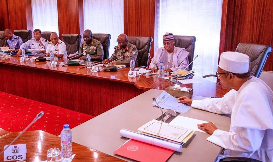 President Buhari Meets With Service Chiefs | Meeting